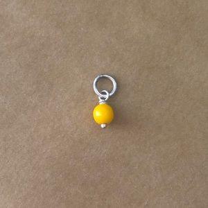James Avery 925/glass RETIRED light orange bead